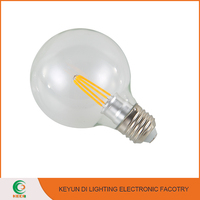 Wholesale E27/B22 2W 4W 6W Glass shape LED Light Aluminum cooling led bulb filament