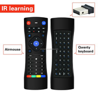 android tv box smart dual side IR learning 2.4g remote control with keyboard