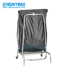 Heavybao Stainless Steel Knocked-down Rubbish Recycling Cart Trolley