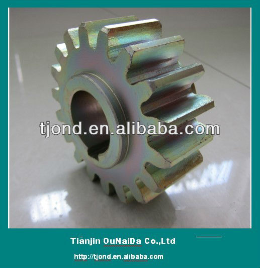 Small bronze plating steel spur M5*22T gear with two hubs