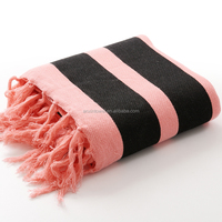 100% cotton plush yarn dyed jacquard terry velour beach towel