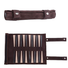 Wholesale Backgammon games suede leather, Backgammon roll up, Backgammon Oem factory