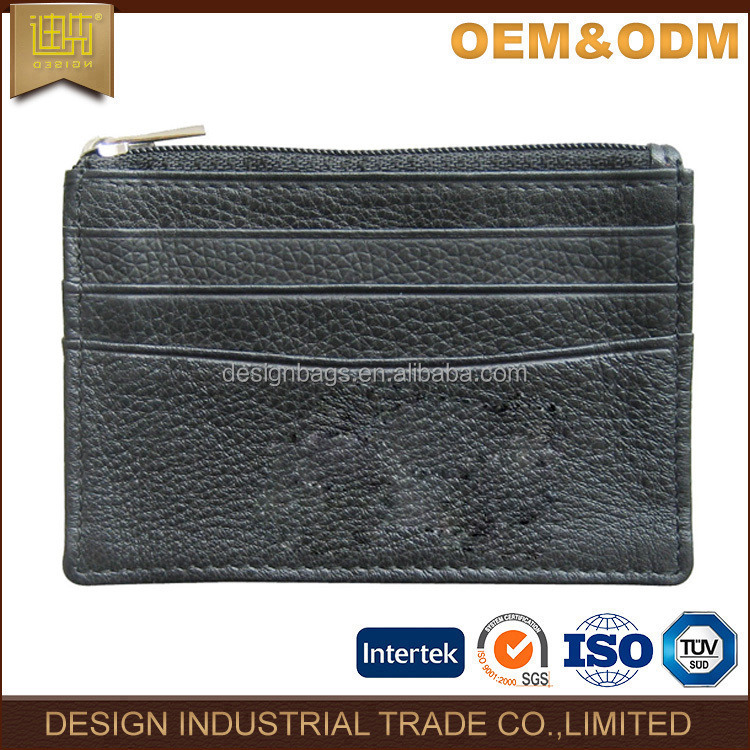 2017 fashional business card holder custom printing name pu leather card holder