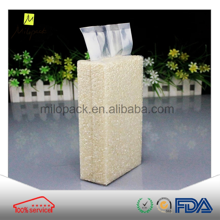 Printable high quality glossy laminated vacuum plastic <strong>rice</strong> package bag