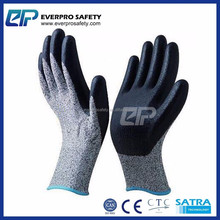 CE Standard EN 388 Cut Proof Gloves Nitrile Coated Cut Resistant Safety Gloves