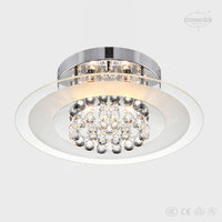 2014 fancy cheap beautiful home modern glass and crystal ceiling lights for Qatar ETL60141