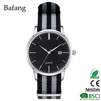 hot wholesale stainless steel case back men black watch with Miyota Japan movt from China factory