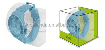clear PVC box with blister for wrist watch