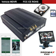 H.264 Compression Mobile dvr/ Living Streaming Viewing Mobile DVR 8 Channel Max 2tb HDD 720p AHD Mobile DVR
