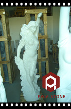 White marble stone hand carving statue sculpture