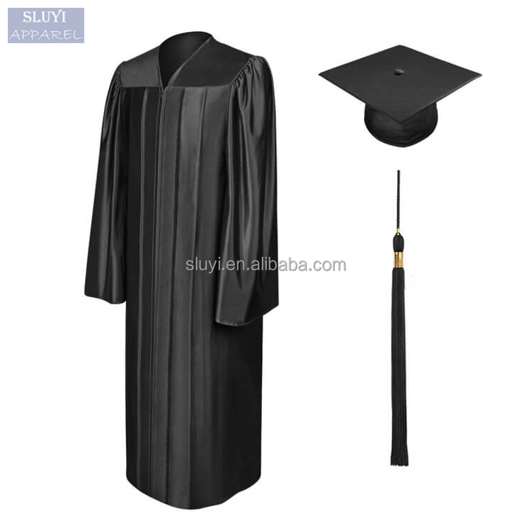 wholesale graduation gowns Unisex School Uniform long sleeve loose Bachelor black graduation gown For College Academic with Cap