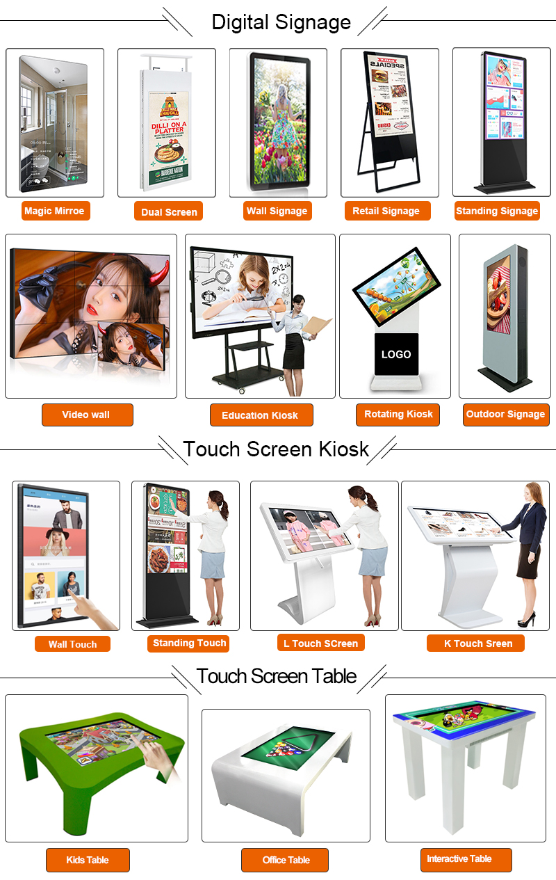 LCD digital signage advertising video wall player