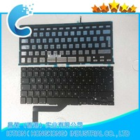 100% tested laptop UK keyboard with backlight for Macbook A1398 2012-2013