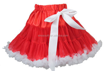 Christmas fluffy chiffion pettiskirt for girls
