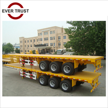 low price high quality tri-axle 3 axle 40ton 40 ft flatbed flat bed container semi trailer used truck trailer price
