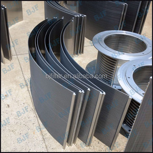 Wedge wire Mini conical slot screens bends for the starch industry
