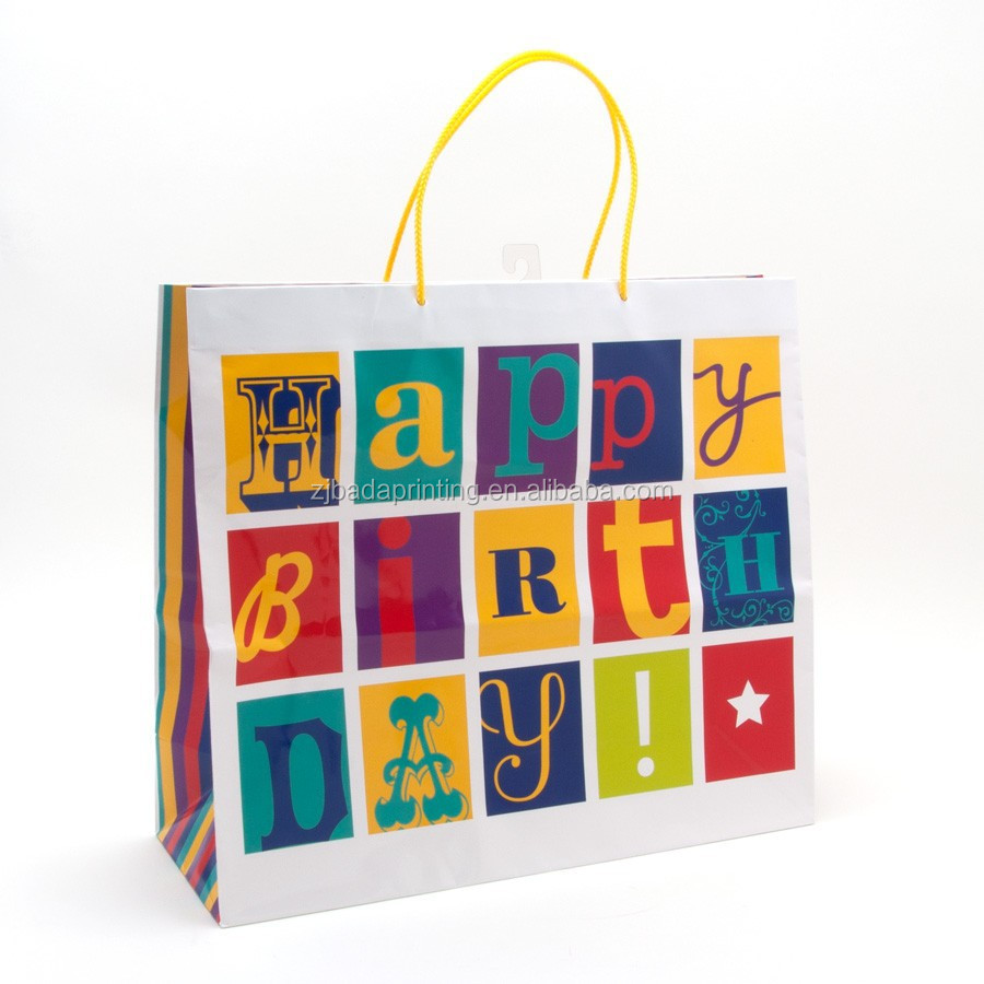 Gift Bags Decorative Happy Birthday Bag For Kids Presents