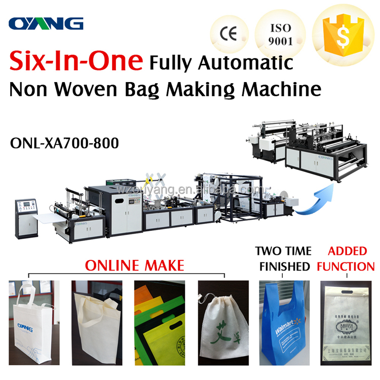 full automatic non woven fabric bag cutting and sewing machine