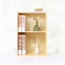Mini furniture 2 tier small wood book shelf