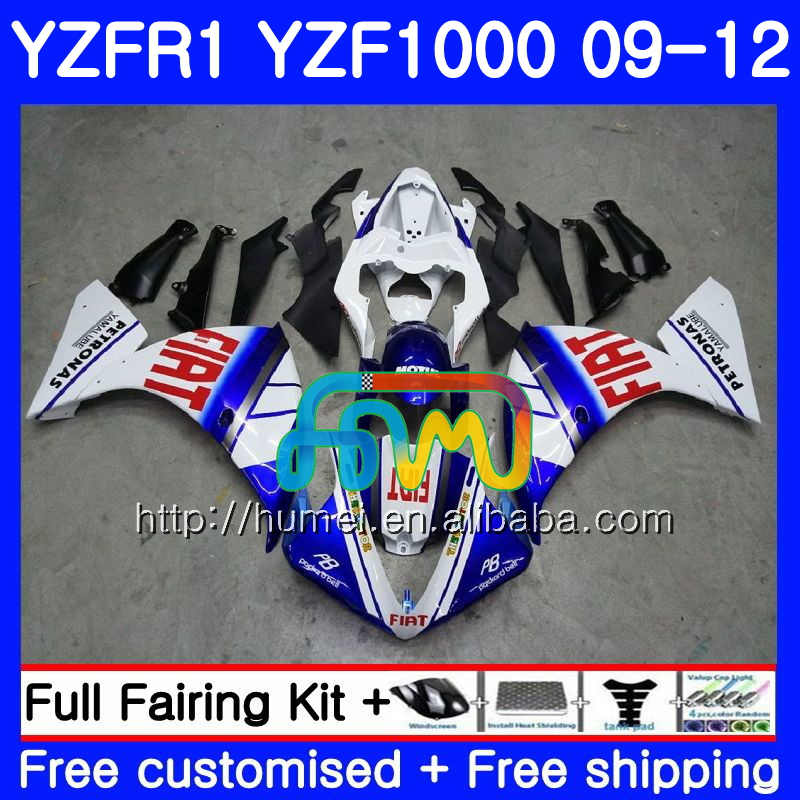 Body For YAMAHA YZF-<strong>R1</strong> blue white YZF1000 R 1 YZF-1000 104HM29 YZF 1000 YZF <strong>R1</strong> <strong>09</strong> 10 11 12 YZFR1 2009 2010 2011 2012 Fairing