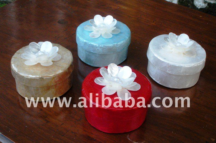 Capiz Boxes / Wedding Favor / Handicraft Gift