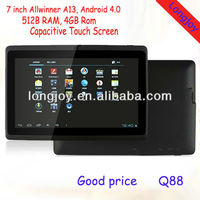 China Cheapest Allwinner A13 cortex A8 Android 4.0 Tablet PC 7 inch
