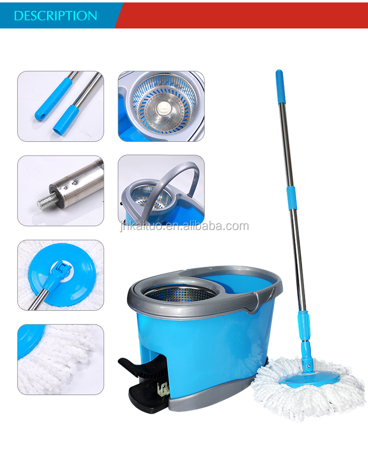 Stocked,Eco-Friendly Feature and Stainless steel Pole Material 360 degree mop