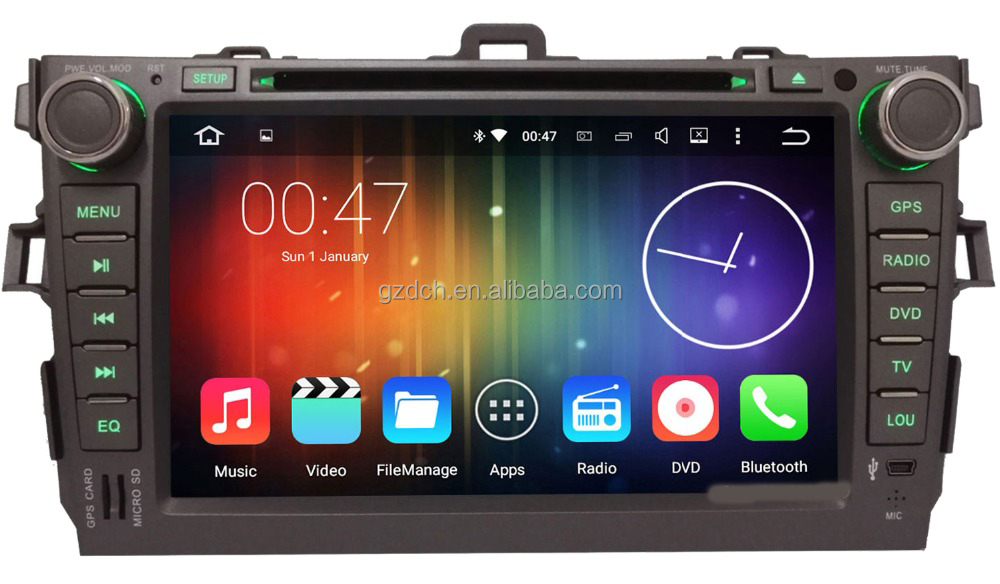 4G LTE Octa Core 64-BIT 2GB RAM Android 6.0 for Toyota Corolla 2007 2008 2009 2010 2011 Car DVD Radio GPS Navigation Ste WS-9123