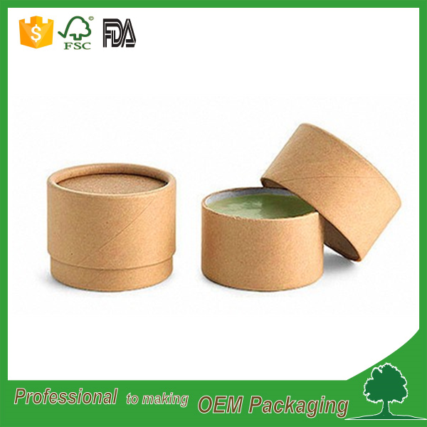 food grade sunscreen stick Kraft round box deodorant stick containers recycled material plain printing wholesale manufacturer