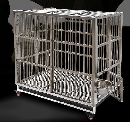 Economical luxury pet iron and nylon sling carrier galvanized stainless steel dog kennels