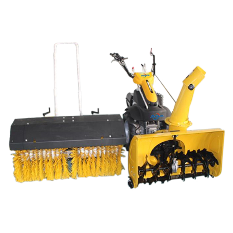 Mini blower snow plow sweeper