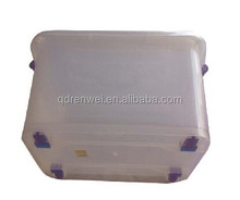 Multipurpose Clear Transparent Plastic Boxes with Wheels Wholesale