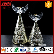 light up new product christmas glass angel decorations