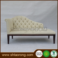 Chesterfield style white fabric sofa bed for living room