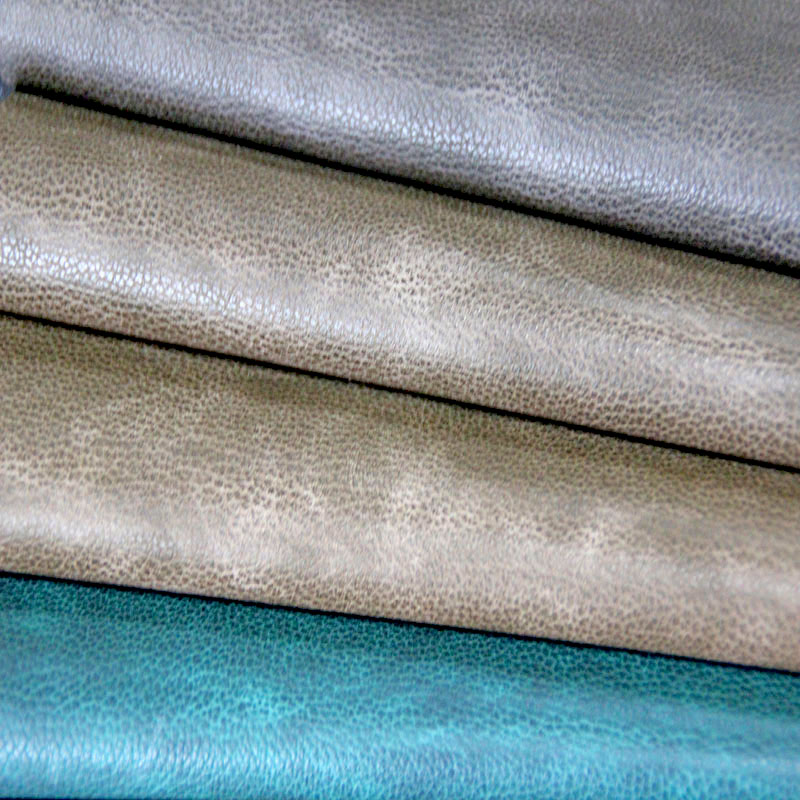 Imitation of cotton wool leather for bags and suitcases