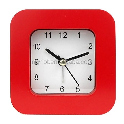 3.5inch cube plastic table alarm clock