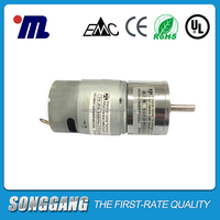 Shenzhen Motor Manufacturer Brush construction Electric Small DC Geared Motor 12 volt with gearbox SGA28RO