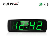"[GANXIN]4 "" Green Alibaba Led Digital Prayer Time Clock with Time and Temp Display Wall Mounted Made in China"