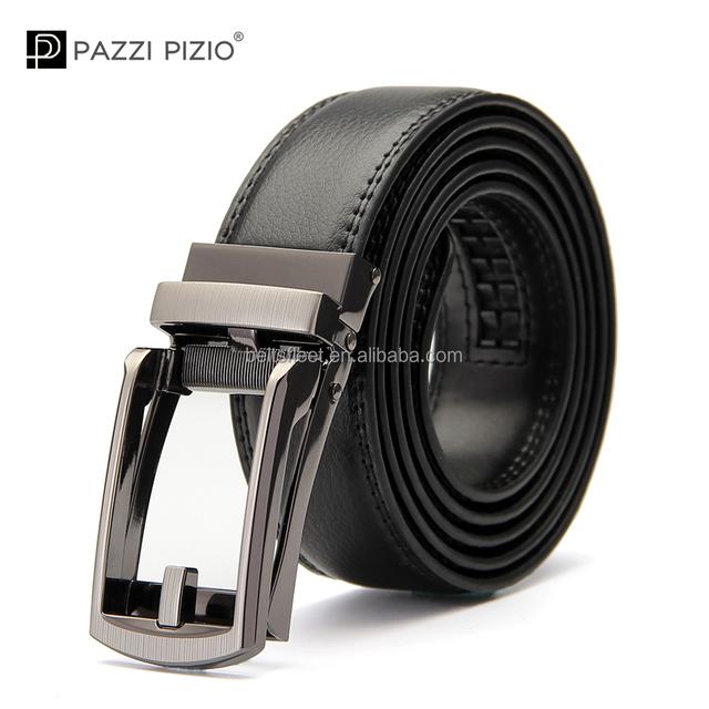 2018 Leisure Style Black Belt Alloy Automatic Buckle Genuine Leather Belt For Fashion Men