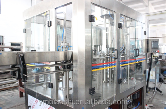Bottle filling machine for oil and beer