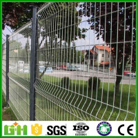 Metal curved panel fence/grid fence panel/Triangle Bending Fence