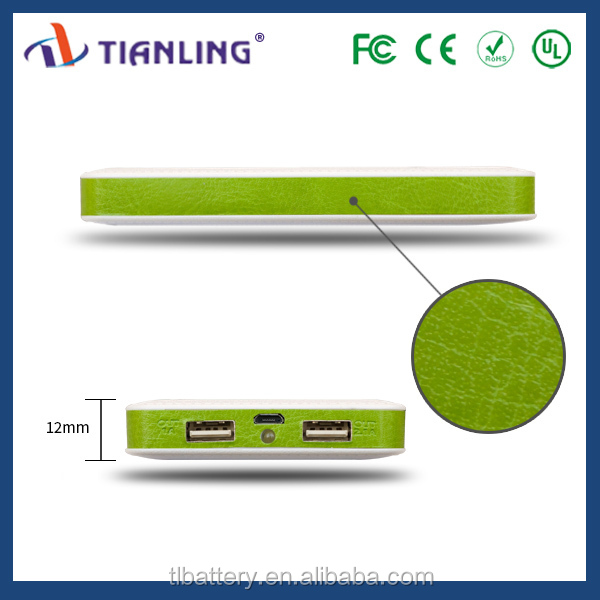 8000mah fast charging li-polymer battery power bank with led charge indicator