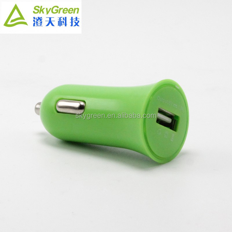 Universal single usb phone charger 1 Amp car adapter charger with customized colors