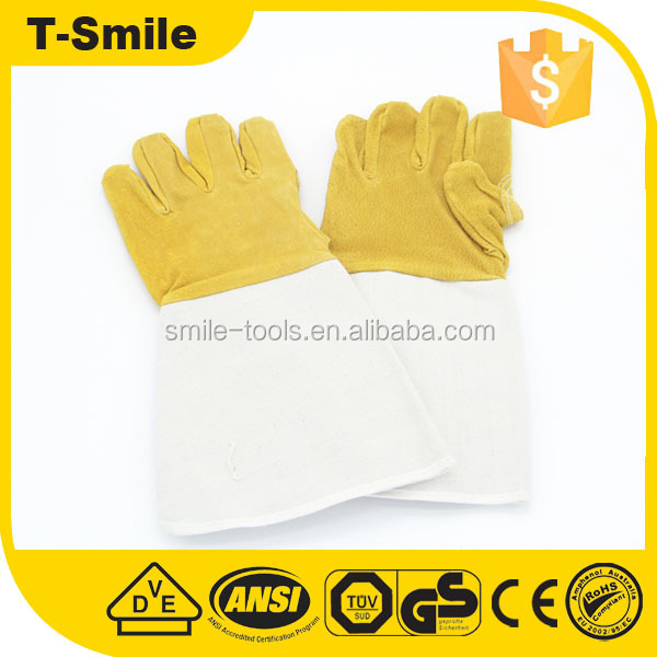 synthetic leather safety yellow oilfield impact mechanical new style spandex gloves