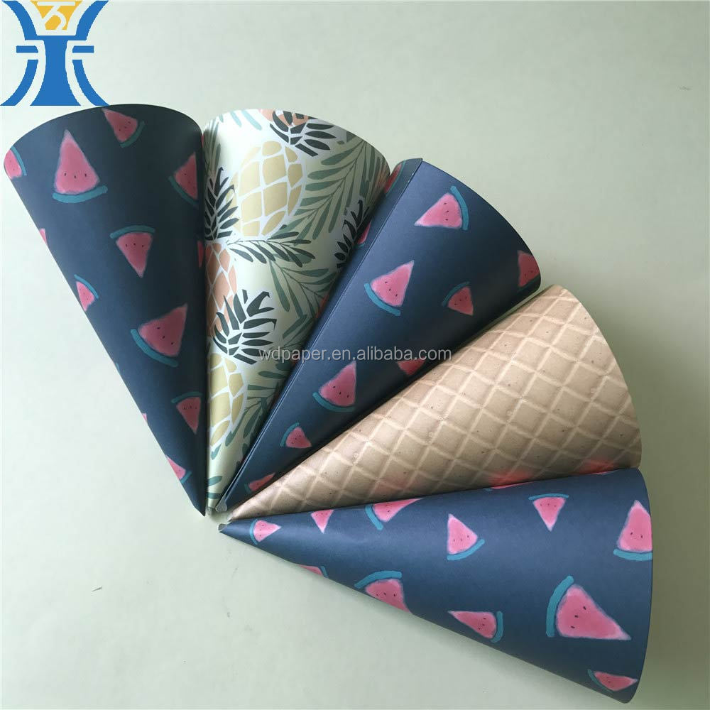 China supplier new products kraft paper long flowers packing delivery cone paper