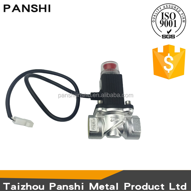 Manufacturer commercial wholesale lpg gas use safety DN15A 12v aluminum solenoid valve