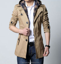 Men Slim Fit Long jacket Coat Men Winter Warm Double Breasted men Peacoat jacket coat