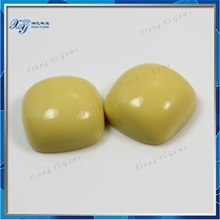 Names of brazil yellow colored square rough turquoise stone making for bracelets decoration