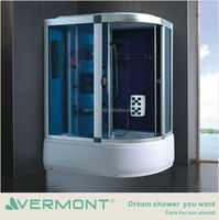 cheap sliding steam shower cabin withLED tap light