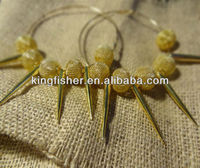 Top Fashionable Paparazzi Basketball wives earrings!! Gold colors mesh beads&Spikes Inspired Basketball wive earrings!! !!